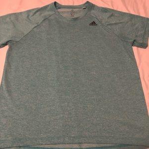 Adidas Tee - Light Blue Heathered